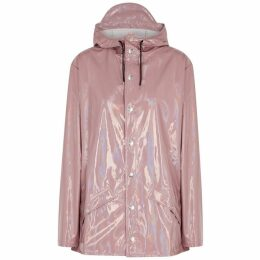 Rains Dusky Pink Holographic PVC Raincoat