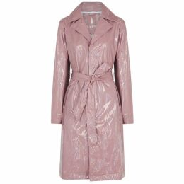 Rains Dusky Pink Holographic Raincoat