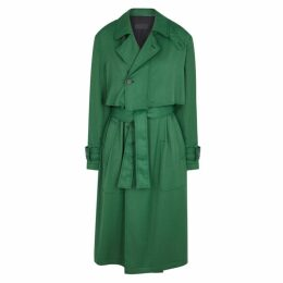 Haider Ackermann Emerald Rayon Trench Coat