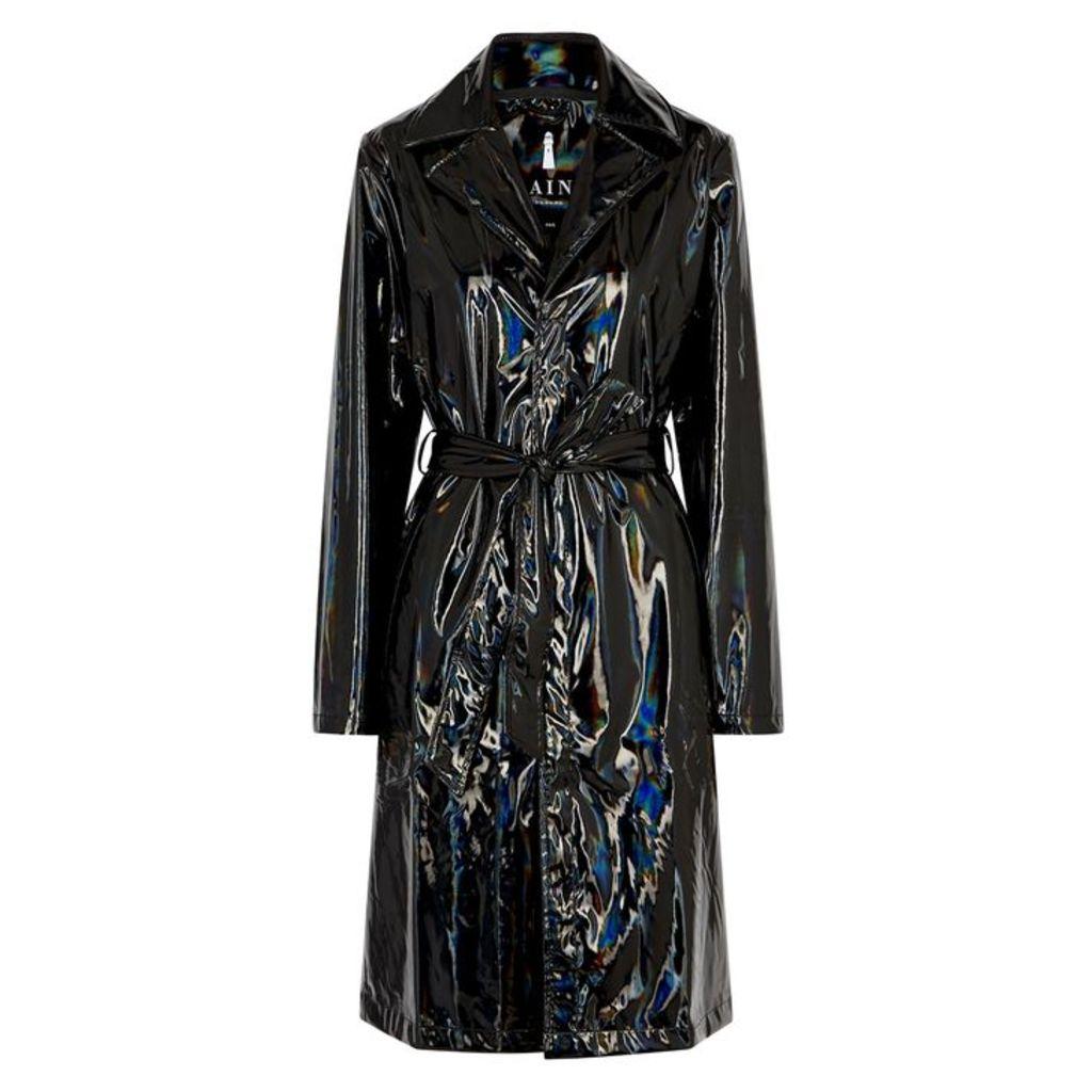Rains Black Holographic Raincoat