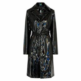 Rains Black Holographic Raincoat