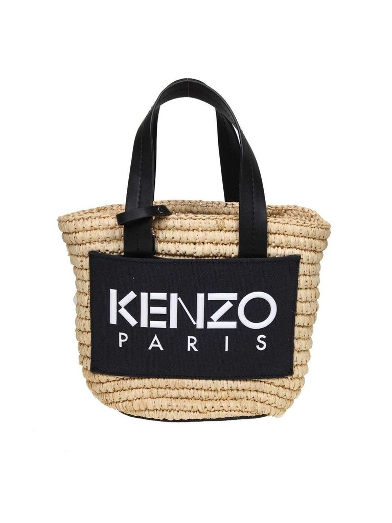 Kenzo Shopping In Rafia Small Summer Basket