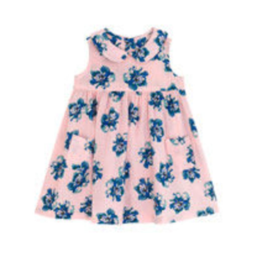 Falling Roses Peter Pan Collar Dress