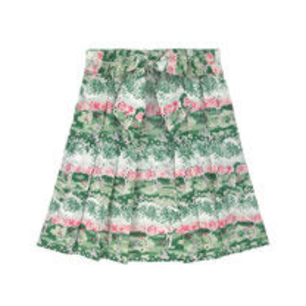 Birch Forest Cotton Cambric Skirt