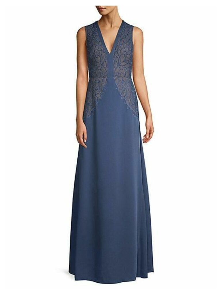 Embroidered Lace A-Line Gown