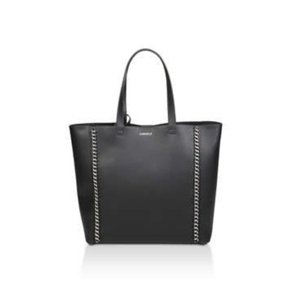 Carvela Chain Shopper With Pouch - Black Shopper Bag