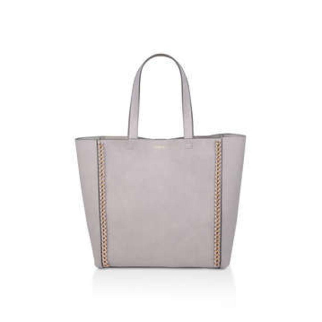 Carvela Chain Shopper With Pouch - Grey Shopper Bag