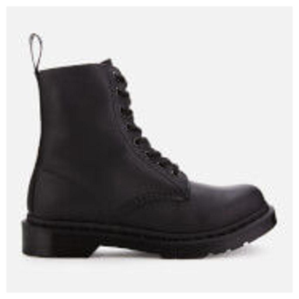 Dr. Martens Women's 1460 Virginia Leather Pascal 8-Eye Boots - Black Mono