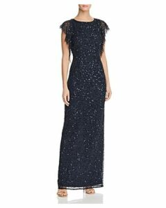 Adrianna Papell Embellished Flutter Gown