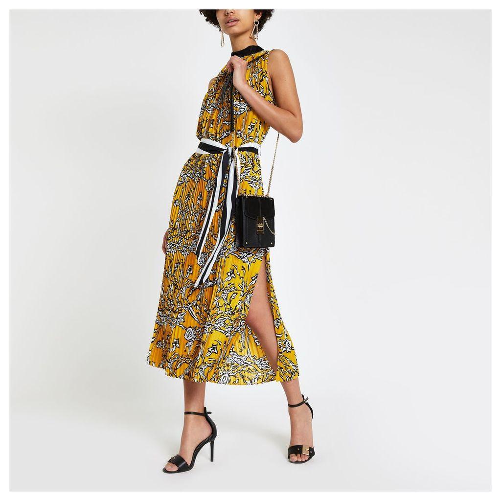 Womens Forever Unique zebra print pleated midi dress