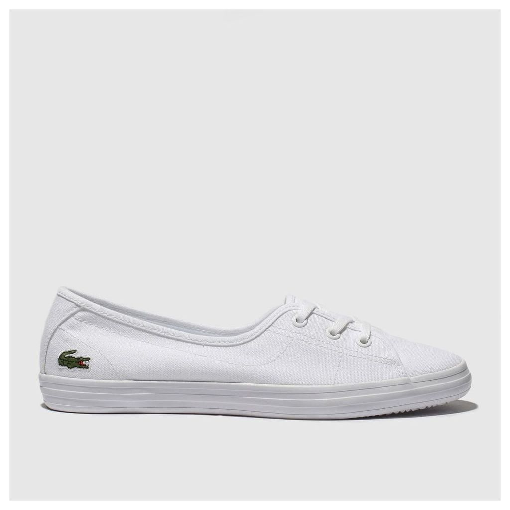 Lacoste White Zaine Chunky Trainers