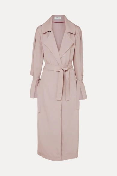 OCHI - Belted Twill Trench Coat - Lilac