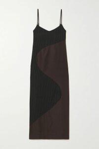 Alice + Olivia - Diana Satin-jersey Maxi Dress - Blue