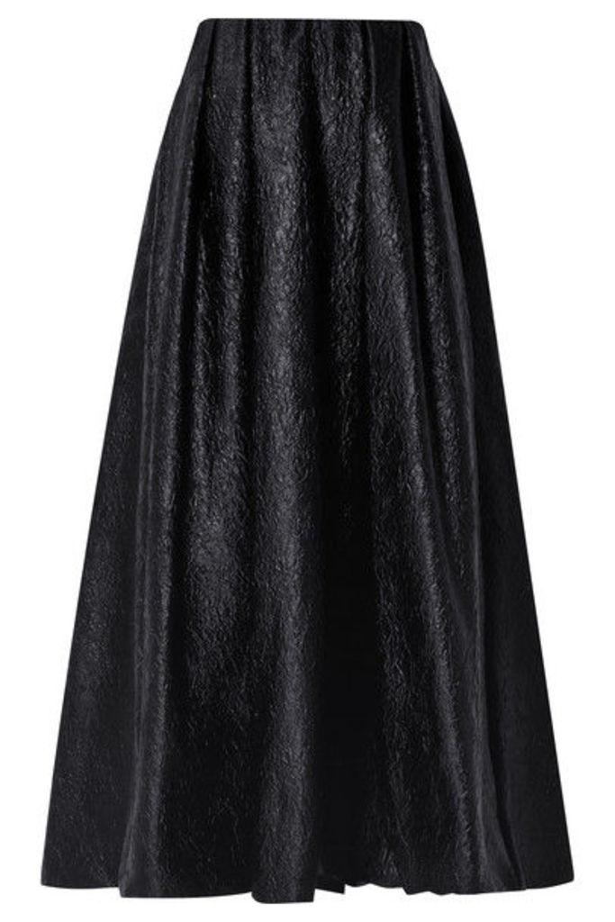 Simone Rocha - Strapless Cloqué Midi Dress - Black