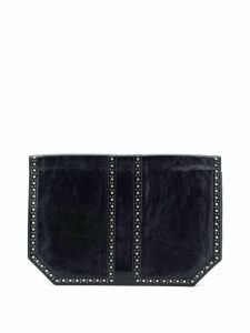 Yves Saint Laurent Pre-Owned 2000 perforated detail clutch - Black
