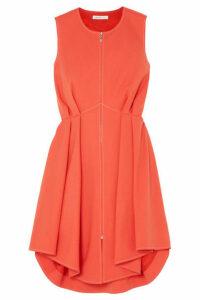 ADEAM - Pintucked Twill Mini Dress - Orange