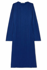 Givenchy - Plissé-crepe Maxi Dress - Blue