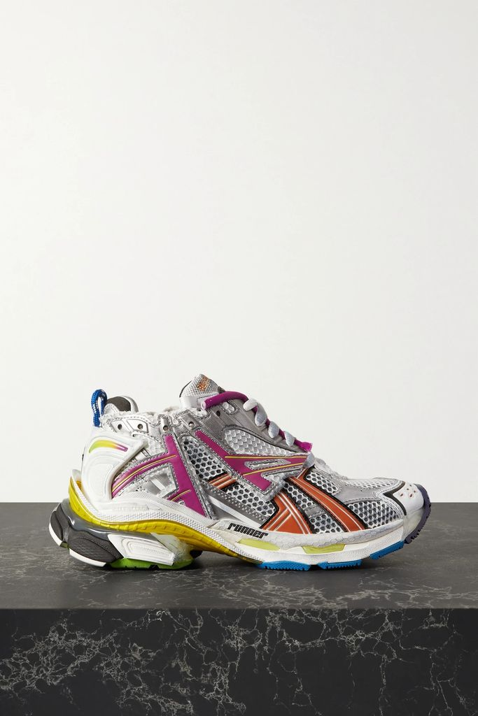 Marc Jacobs - Metallic Open-knit Cardigan - Silver