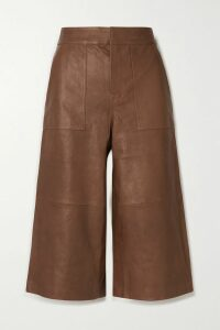 Brock Collection - Grosgrain And Lace-trimmed Crinkled-satin Dress - Blush