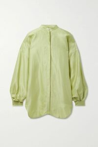 Brock Collection - Cutout Ruffle-trimmed Printed Cotton Maxi Dress - Pink