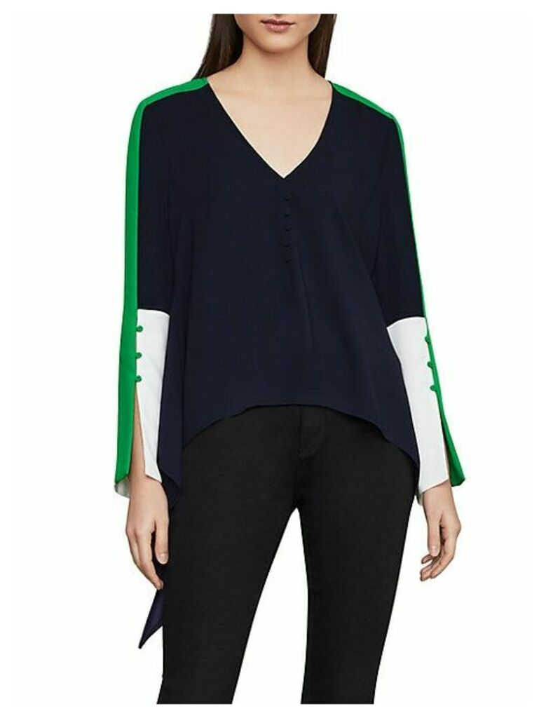 Asymmetric Colorblock Top