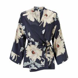 Jigsaw Mandarin Bloom Silk Kimono