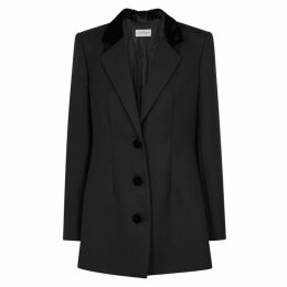 BY MALENE BIRGER Black Velvet-trimmed Blazer