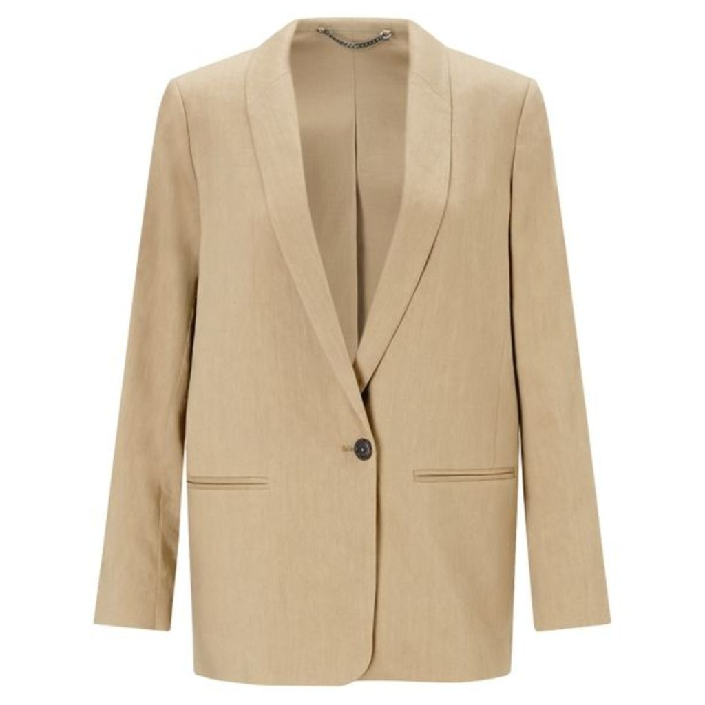 Jigsaw Portofino Linen Long Blazer