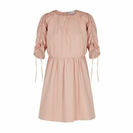 RED Valentino Rose Ruched Stretch-cotton Dress