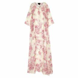 Giambattista Valli Floral-print Silk-chiffon Maxi Dress