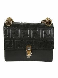 Fendi Embossed Logo Shoulder Bag