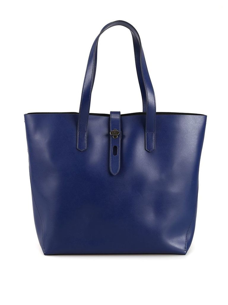 Hogan Blue Leather Tote