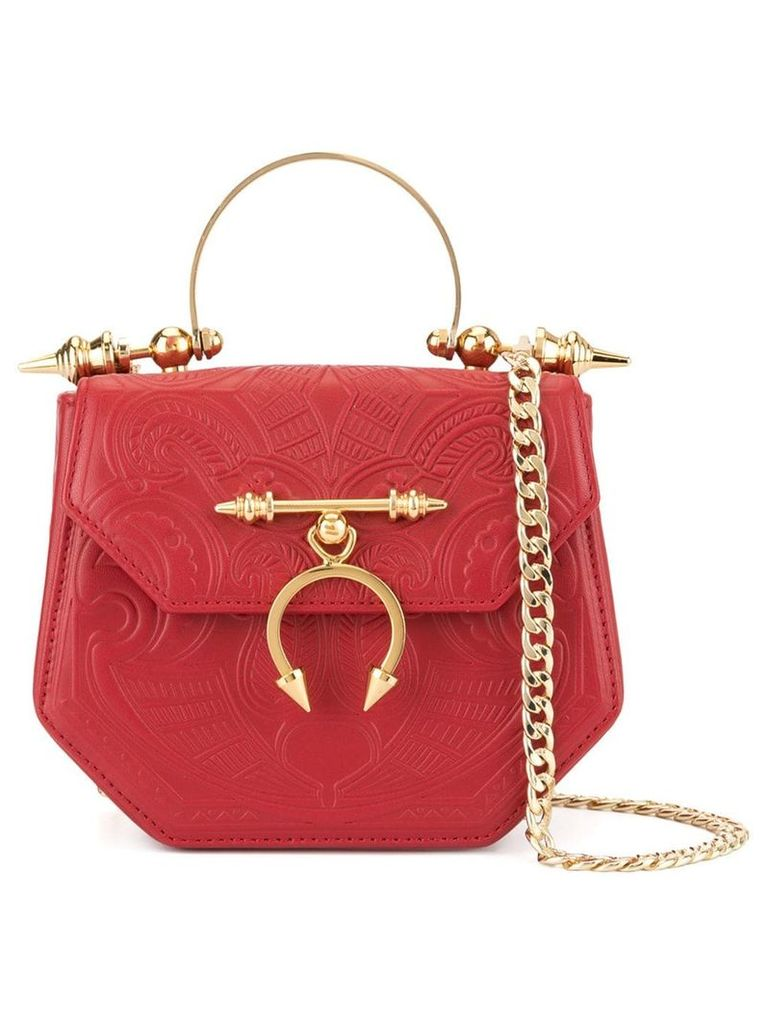 Okhtein The Pine Minaudiere crossbody bag - Red