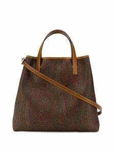 Etro paisley tribe tote - Brown