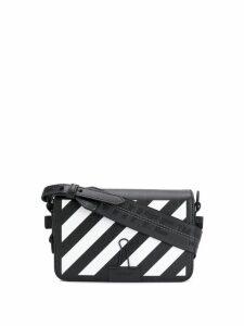 Off-White diagonal striped shoulder bag - Black