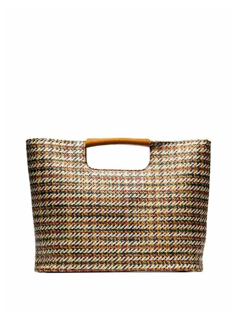 Simon Miller multicoloured Birch medium woven-straw tote bag - Brown