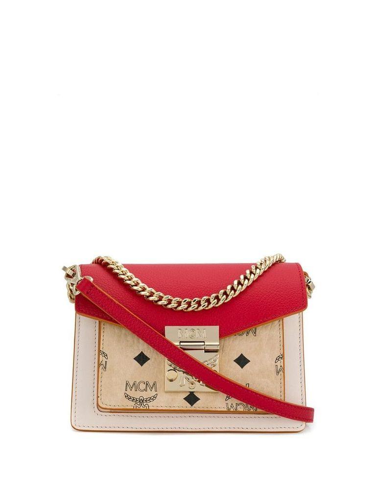 MCM mini logo bag - Red