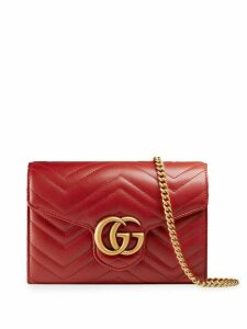 Gucci mini GG Marmont matelassé bag - Red