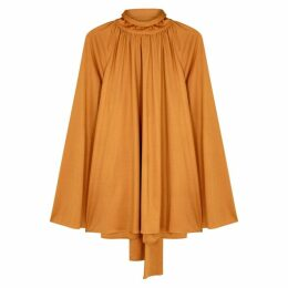 THE ROW Merrian Amber Satin Jersey Top