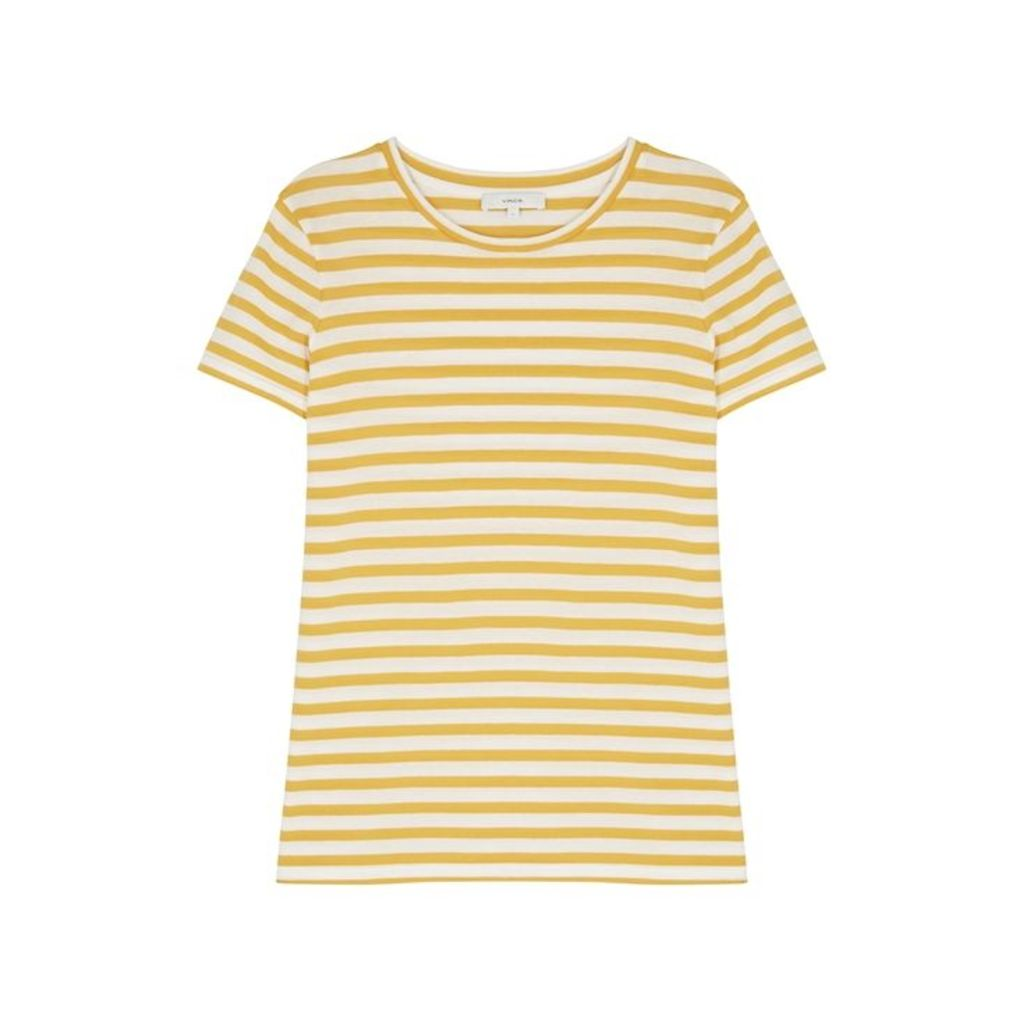 Vince Striped Cotton T-shirt