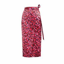 SABINA SÖDERBERG - Ida Wrap Skirt Red Leopard