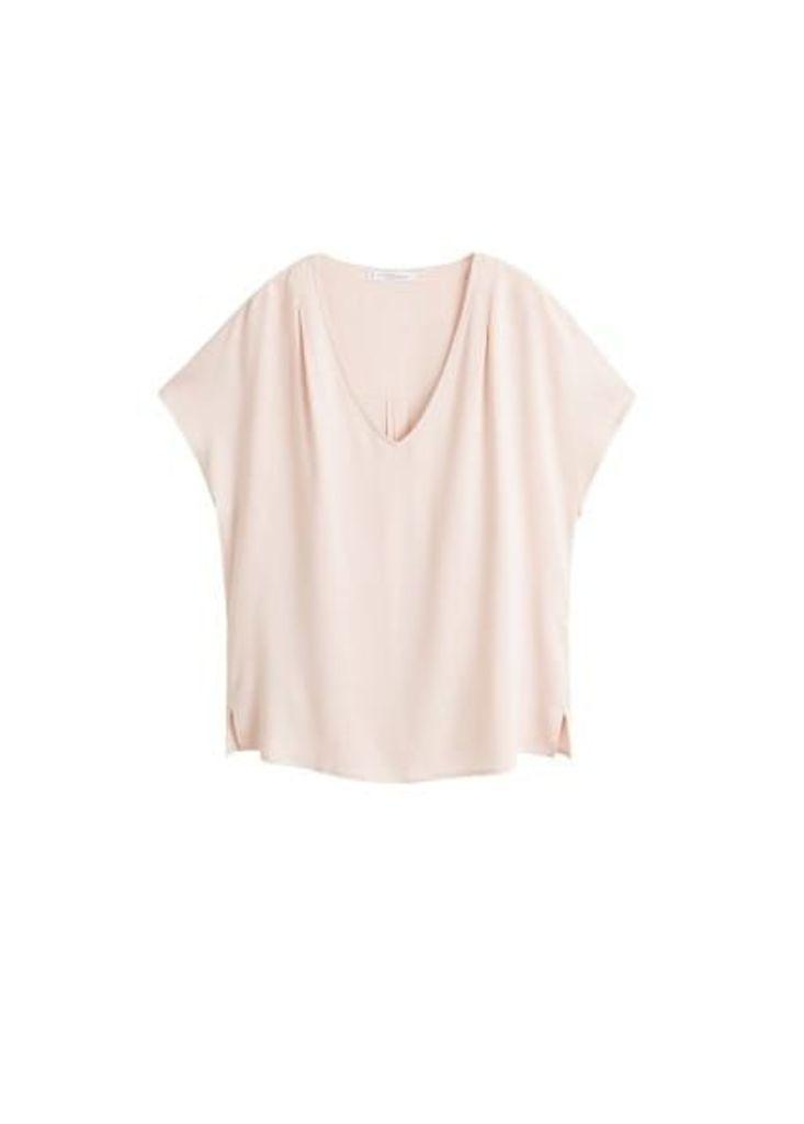 V-neckline blouse