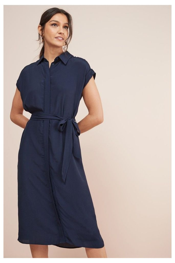 Womens Next Navy Shirt Dress -  Blue