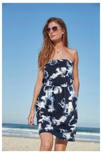 Womens Next Tie Dye Boobtube Dress -  Blue