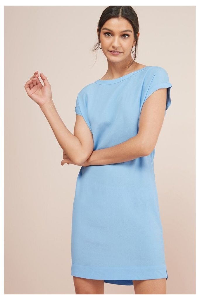 Womens Next Blue Woven Boxy T-Shirt Dress -  Blue