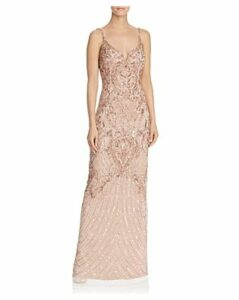 Aidan Mattox Embellished Mesh Gown - 100% Exclusive