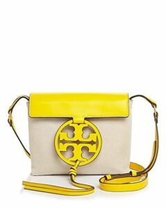 Tory Burch Miller Canvas & Leather Crossbody
