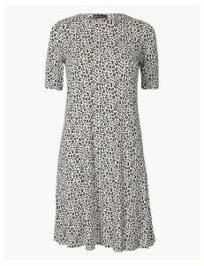 M&S Collection Animal Print Jersey Swing Dress