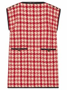 Gucci houndstooth print shift dress - Red
