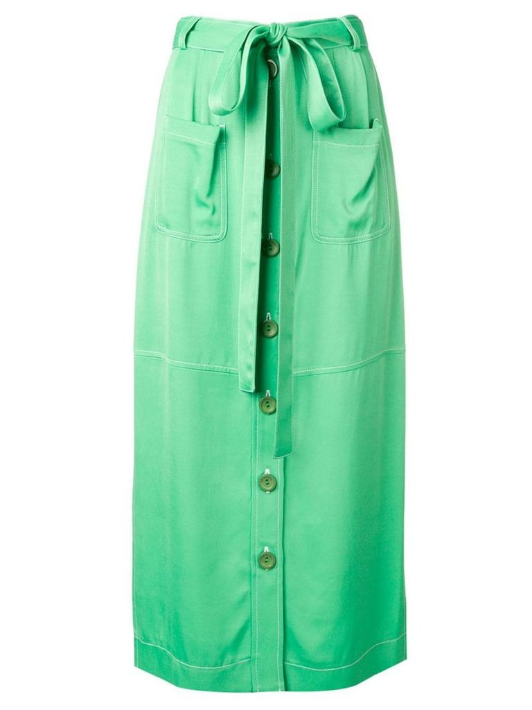 See By Chloé waist-tied midi skirt - Green